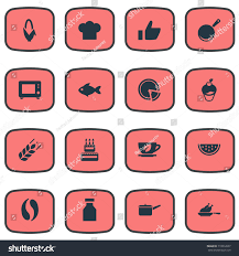 id cuisine simple vector illustration set simple cuisine icons stock vector 718812607