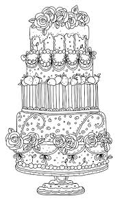 free printable coloring pages wedding cake colouring