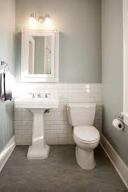 traditional powder room with powder room kohler white pedestal