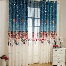 rideaux pour chambre d enfant style nautique multi couleur obscurcissement de la pièce rideau