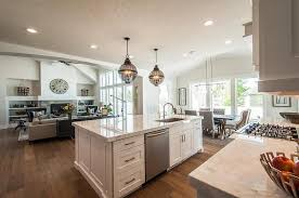 center island for kitchen amazing kitchen features a pair of black cage lanterns placed above