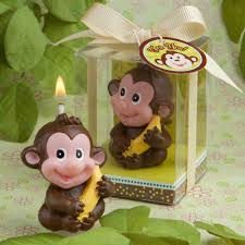 monkey decorations for baby shower mini jungle animal baby shower candles monkey baby shower