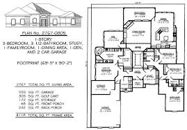 1 floor house plans 3 bedrooms 2250 2800 square