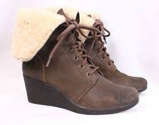 s ugg australia brown zea boots ugg australia zea waterproof genuine shearling wedge boots brown