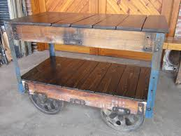 Industrial Cart Coffee Table Coffee Tables Mesmerizing Antique Lineberry Furniture Factory