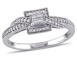 1 4 carat engagement ring princess cut halo crossover engagement ring 1 4 carat ctw