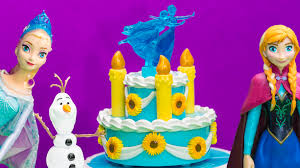 frozen fever elsa disney anna u0027s birthday cake playset frozen video