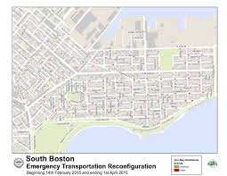 City Of Boston Map by Mayor Walsh Announces South Boston Emergency Transportation