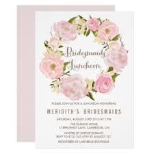 bridesmaid lunch invitations bridal luncheon invitations announcements zazzle