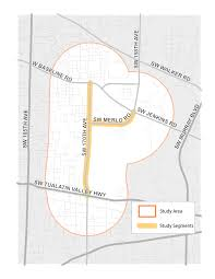 Map Of Beaverton Oregon by 170th Avenue Merlo Road Conceptual Design Plan