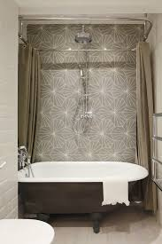 Bathroom Shower Curtain Ideas Designs Colors Clawfoot Tub Shower In Bathroom Industrial With Exposed Brick Cast