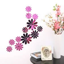 compare prices on mirror wall flower stickers online shopping buy new 12pcs mirror acrylic plum flower wall sticker bedroom tv wall background stickers decor china