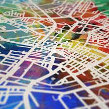 Manchester England Map by Manchester Map Art Print By Artpause Notonthehighstreet Com