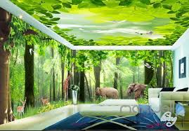 wallpaper for entire wall 3d froest animals grass tree entire living room wallpaper wall mural