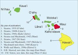 map of hawaii island map of hawaiian islands black