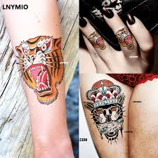 2 pcs temporary tatoo tiger panther sticker