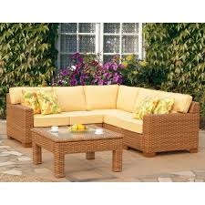 All Weather Wicker Patio Furniture Clearance by Outdoor U0026 Garden Manning Brown Wicker Patio Furniture Set With