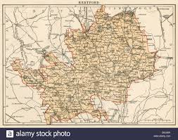 Essex England Map by Map Of Hertfordshire England 1870s Stock Photo Royalty Free
