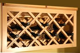 builtin wine storage under cabinets this would be super easy to do