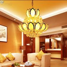 Lotus Chandelier Golden Lotus Chandelier L Ls Penthouse Floor