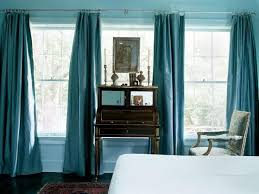 furniture the turquoise curtain panels with cool color blue and