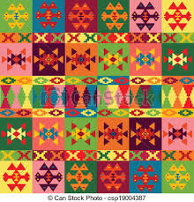 vector of ethnic motifs background carpet with folk ornaments in