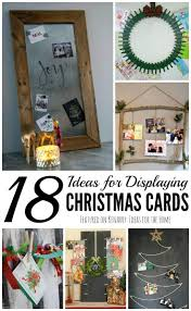displaying christmas cards 18 fun and unique ideas