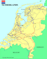 map of germany showing rivers netherlands waterways map