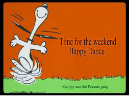 weekend happy dance snoopy peanuts gang