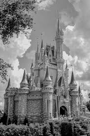 cinderella castle black white