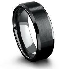 Mens Black Wedding Rings by Mens Black Tungsten Wedding Bands U0026 Black Tungsten Rings