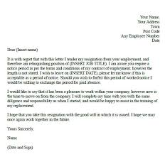 notice of resignation template resignation letter with 30 day