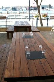 outdoor patio wood table furniture design of bocanova oakland