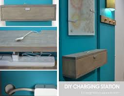 charging shelf station wall mounted charging station shelf
