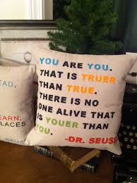 dr seuss quote pillow inspirational home decor quote throw u2026