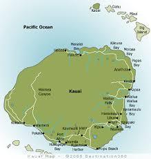 map of hawaii cities kauai map map of kauai hawaii