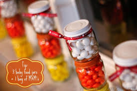 jar party favors easy candy corn party crafts to add to your fall party ideas