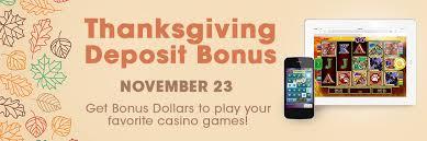 thanksgiving deposit bonus promotions borgata casino