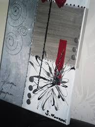 Tableau Abstrait Rouge Et Gris by Tableau Abstrait Blanc Argent Rouge Tableau Home Deco De Sabine