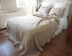 King Size White Coverlet Naturaltaupe Camel Brownish Linen Bed Coverlet By Nurdanceyiz
