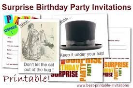 free printable surprise party invitation from word