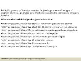 Lpn Charge Nurse Resume Top 10 Lpn Charge Nurse Interview Questions And Answers