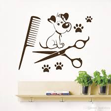 dog wall stickers wall decals pet grooming salon dog scissors shop dog wall stickers wall decals pet grooming salon dog scissors shop comb vinyl sticker decor pet shop home decor wallpaper wall art quote stickers wall art