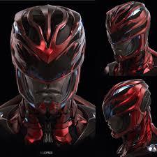artstation red ranger helmet power rangers ian joyner