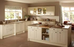 unique kitchen ideas cream cabinets dark counters and knobs oak