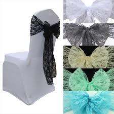 mint chair sashes 100pcs top quality 18 275cm white ivory black lace chair sash