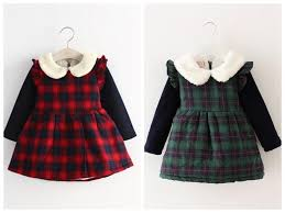 2017 newborn infant baby winter clothes children velvet dresses