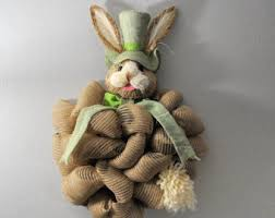 Easter Bunny Decorations Australia by Easter Bunny Wreath Etsy