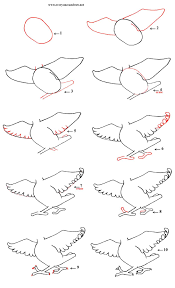 cartoon bird u0027s body step by step number 5