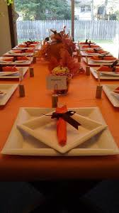 thanksgiving table setting made paper plates and plastic